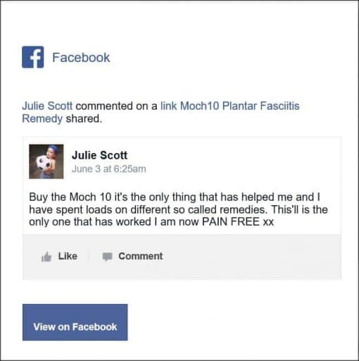 Julie Scott, Facebook Comment