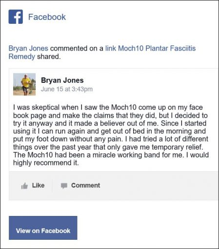 Bryan Jones, Facebook Comment