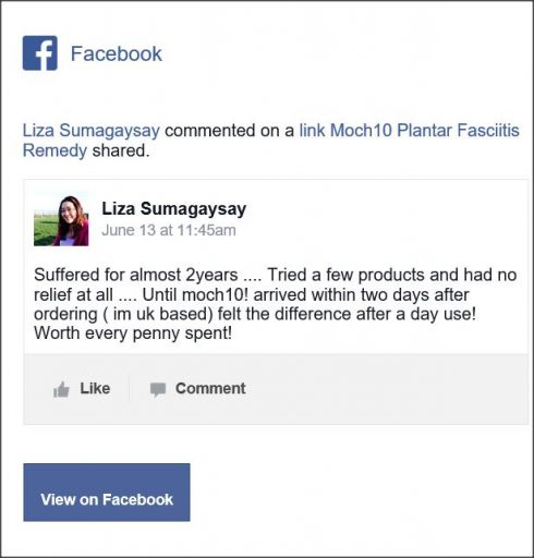 Liza Sumagaysay., Facebook comment