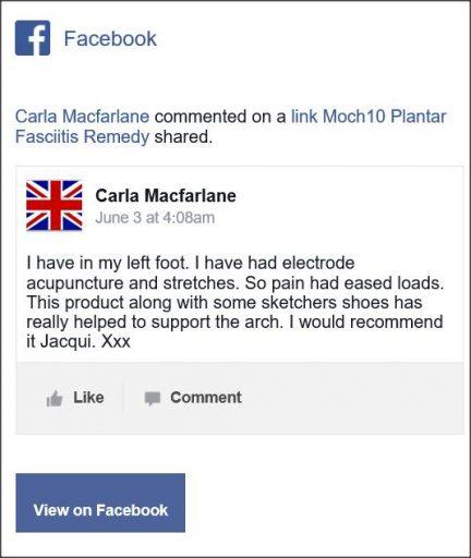 Carla Macfarlane, comentario Facebook