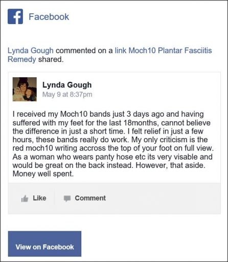 Lynda Gough, Facebook Comment