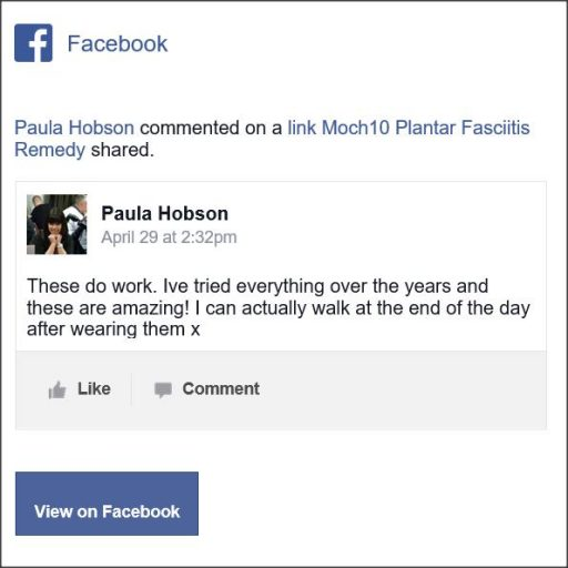 Paula Hobson, Facebook Comment