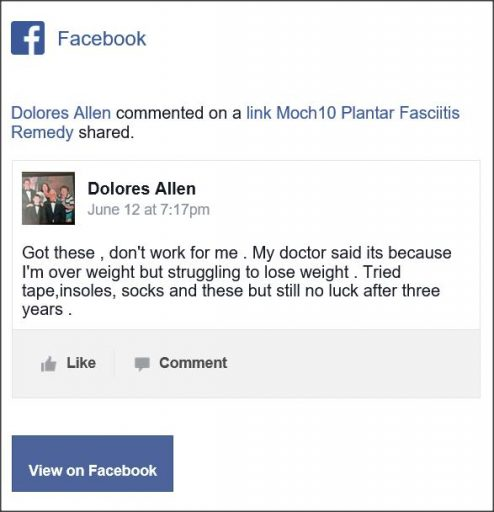 Dolores Allen, Facebook Comment