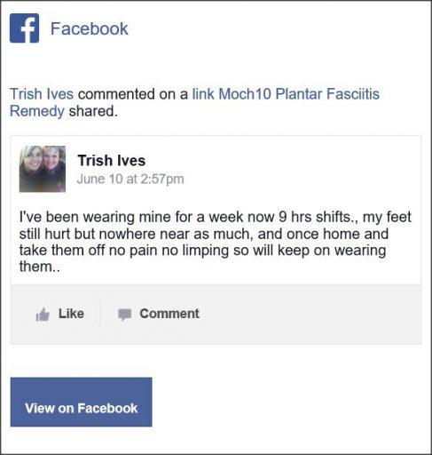 Trish Ives, Facebook Comment
