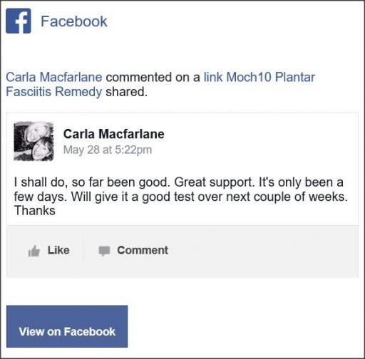 Carla Macfarlane, Facebook comentario