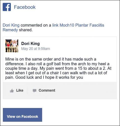 Dori King, Facebook comment