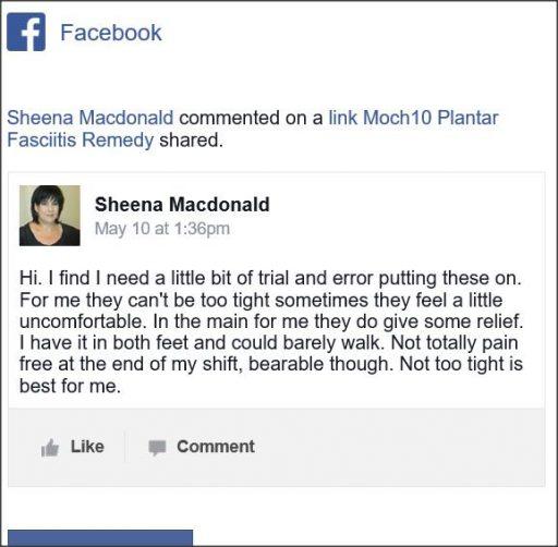 Sheena Macdonald Facebook comment