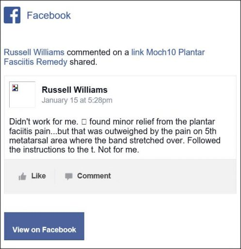 Russell Williams, Facebook comentario