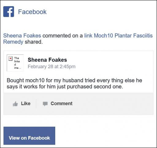 Sheena Foakes. Facebook comment