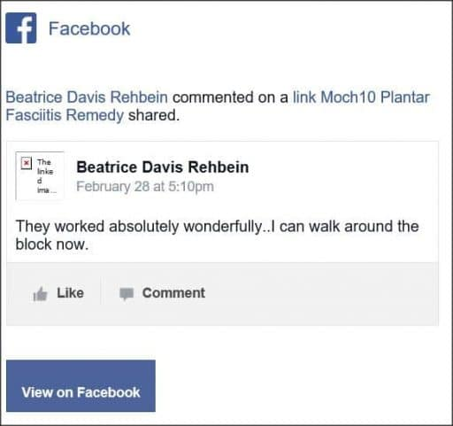 Beatrice Davis Rehbein, Facebook comment