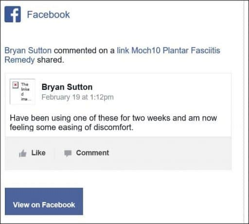 Bryan Sutton, Facebook Comment