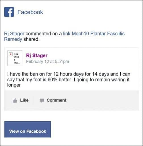 Rj Stager, Facebook comment