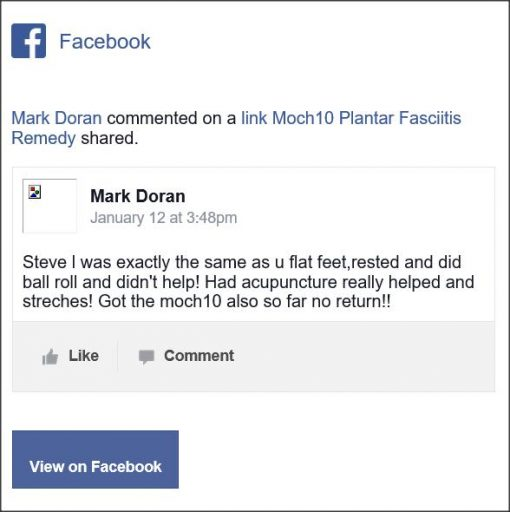 Mark Doran, Facebook comment