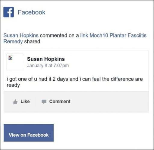 Susan Hopkins, Facebook comentario