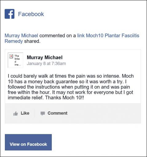 Murray Michael, Facebook comentario
