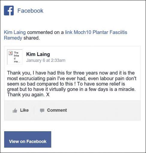 Kim Laing, Facebook comment