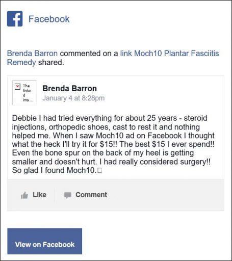 Brenda Barron. Facebook comment