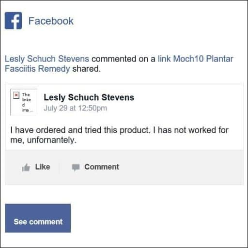 Lesly Schuch Stevens, Facebook comment