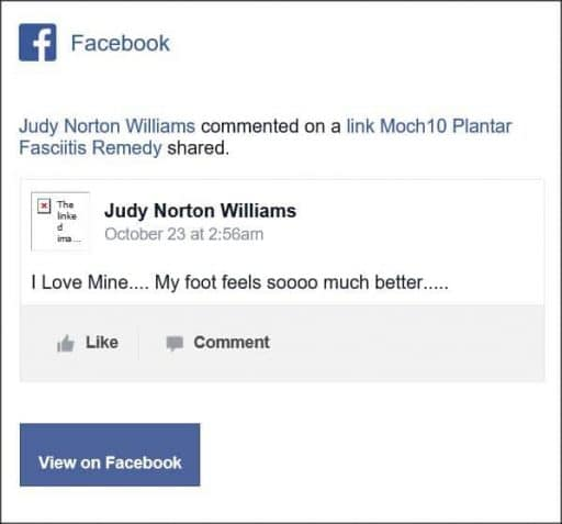 Judy Norton Williams, facebook comentario