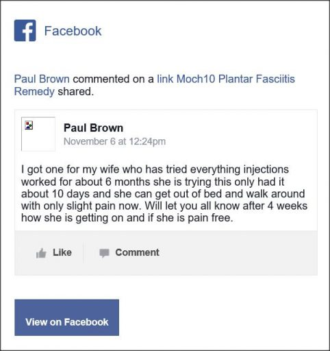 Paul Brown, Facebook comment