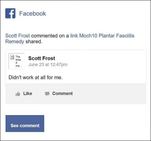 Scott Frost, Facebook comment