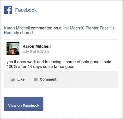 Karon Mitchell, Facebook comment