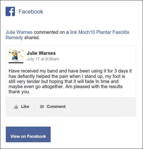 Julie Warnes,Facebook comment