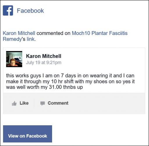 Karon Mitchell, Facebook comment