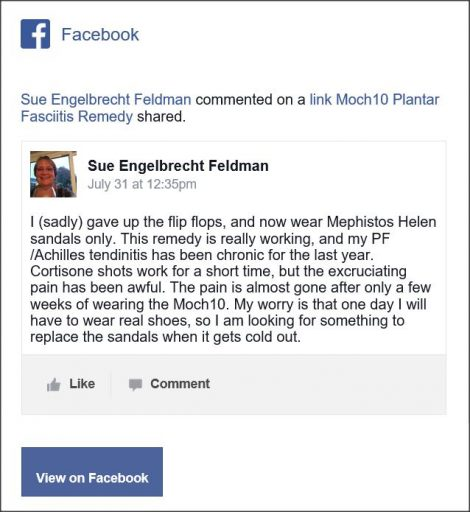 Sue Engelbrecht Feldman, Facebook Comment