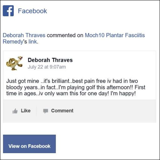 Deborah Thraves, Facebook Comment